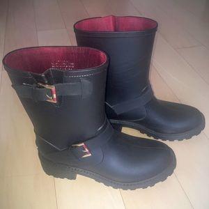 Tommy Hilfiger Rain Boots black Size 9